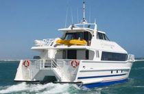 Catamaran dive support boat / inboard / aluminum