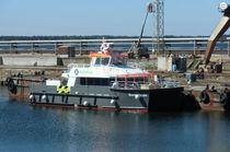 Catamaran crew boat / inboard / aluminum