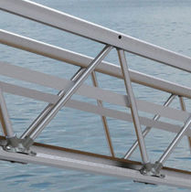 Nautical gangways / with handrails / kit / aluminum