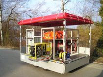 Weir oil skimmer / trailerable