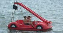 6-seater pedal boat / with slide