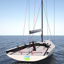 Racing sailboat / open transom / carbon
