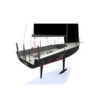 Racing sailboat / open transom / carbon / with bowsprit