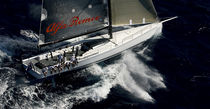 Racing sailing yacht / open transom / custom