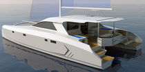 Sailing catamaran / cruising / flybridge / 1-cabin