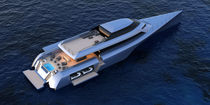 Power trimaran motor yacht / cruising / hard-top / raised pilothouse