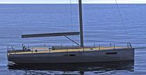 Cruising sailing yacht / open transom / 3-cabin / lifting keel