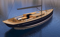 Cruising sailboat / classic / open transom / 3-cabin