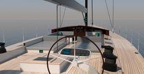 Cruising sailing yacht / regatta / open transom / 6-cabin