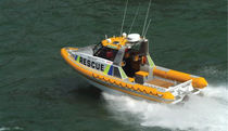 Inboard rescue boat / rigid hull inflatable boat / aluminum