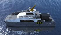 Catamaran offshore wind farm service boat / aluminum