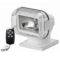 Search floodlight / for boats / halogen / remote-controlled