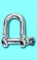Wide shackle for sailboats / with captive pin / forged / stainless steel