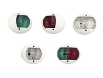 Boat navigation lights / incandescent / three-color / vertical-mount