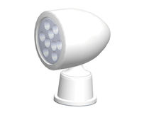 Deck floodlight / for boats / LED / remote-controlled