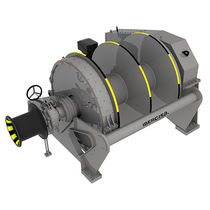 Tugboat winch / towing / hydraulic drive / double-drum