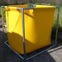 Hydrocarbon tank / temporary storage / with frame