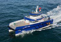 Catamaran multi-purpose work boat / inboard / aluminum