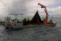 Inboard work barge