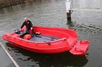 Outboard open boat / HDPE / rotation-molded