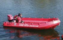 Outboard utility boat / rotomolded polyethylene / open boat