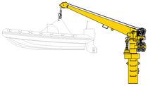 Rescue boat davit / hydraulic