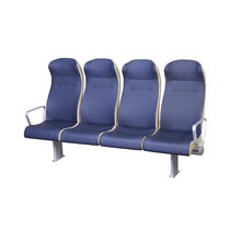 Passenger ship seat / with armrests / 4-person