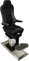 Helm seat / operator / for ships / adjustable