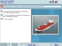 Knowledge testing software for tanker personnel