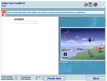 Knowledge testing software for GMDSS operators / for ships