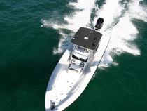 Outboard inflatable boat / twin-engine / semi-rigid / center console