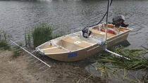Aluminum pollution control boat