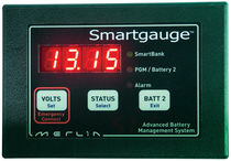 Battery charge controller / boat / digital display