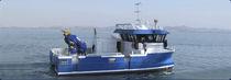 Catamaran multi-purpose work boat / inboard