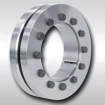 Shrink disc mechanical coupling / for boats / for shafts