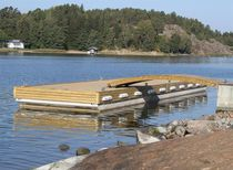 Floating dock / landing stage / for marinas / concrete