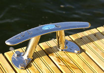 Dock mooring cleat / flat / stainless steel