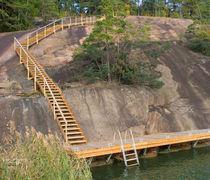 Mooring dock / for marinas / wooden