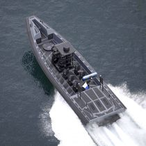 Inboard military boat / inboard waterjet / rigid hull inflatable boat