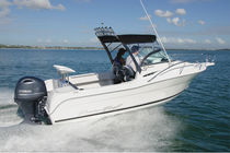 Outboard day cruiser / sport-fishing / 5-person max.