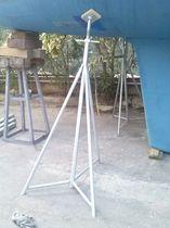 Sailboat boat stands / adjustable / galvanized