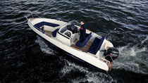Outboard walkaround / 8-person max. / sundeck