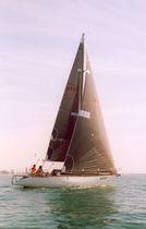 Mainsail / for racing sailboats / tri-radial cut