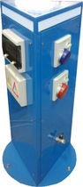 Water supply pedestal / electrical distribution / for docks