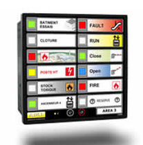 Ship monitoring and control panel / for yachts / alarm