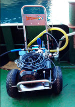 Shipyard high-pressure cleaner / mobile / electric drive / for hull cleaning