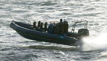 Outboard patrol boat / rigid hull inflatable boat