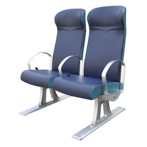 Passenger ship seat / for boats / with armrests / 2-person
