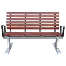 Ship bench seat / 3-seater / with armrests