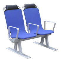Passenger ship seat / with armrests / high-back / 2-person